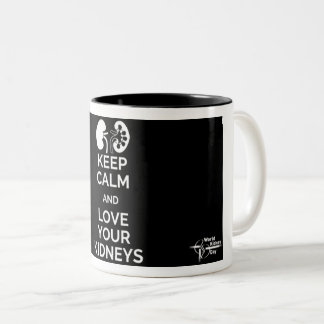 Gardez le calme et aimez votre tasse de reins