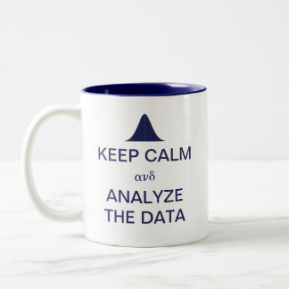 Gardez le calme et analysez les statistiques de tasse 2 couleurs