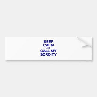 Gardez le calme et appelez mon autocollant de voiture
