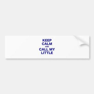 Gardez le calme et appelez mon petit autocollant de voiture