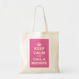 Gardez le calme et appelez une sage-femme sacs fourre-tout