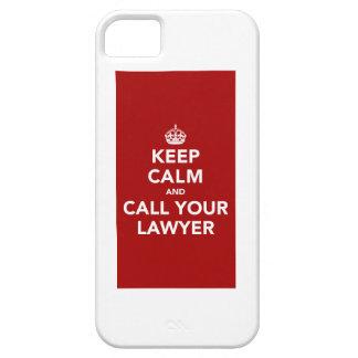 Gardez le calme et appelez votre avocat coque iPhone 5