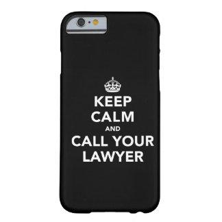 Gardez le calme et appelez votre avocat coque iPhone 6 slim
