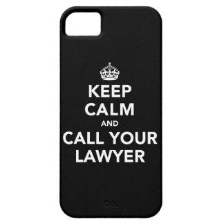 Gardez le calme et appelez votre avocat coques iPhone 5