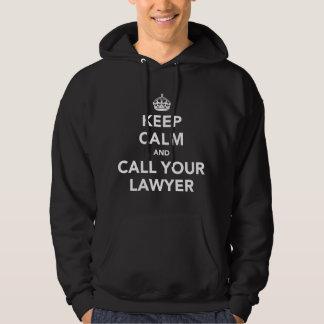 Gardez le calme et appelez votre avocat veste à capuche