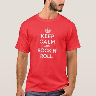 Gardez le calme et basculez le petit pain de n t-shirt