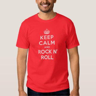 Gardez le calme et basculez le petit pain de n t-shirts