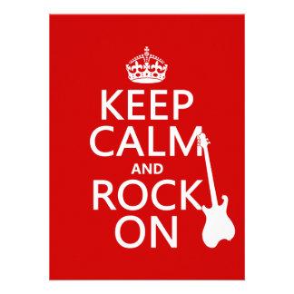 Gardez le calme et basculez sur guitare toute c faire-parts