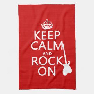Gardez le calme et basculez sur (guitare) (toute serviette pour les mains