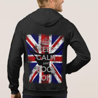 Gardez le calme et basculez sur Union Jack Veste À Capuche
