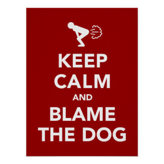 Gardez le calme et blâmez le chien posters