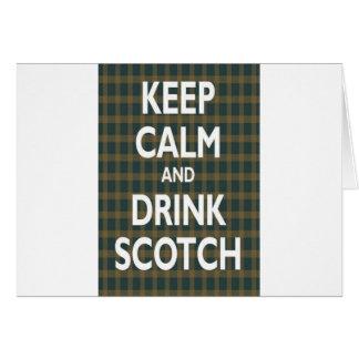 Gardez le calme et buvez écossais carte de vœux