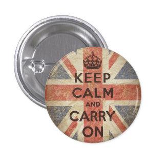 Gardez le calme et continuez avec le drapeau BRITA Badge