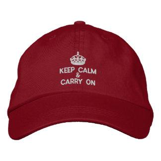 Gardez le calme et continuez casquette brodée