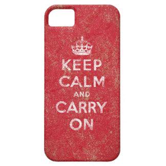 Gardez le calme et continuez coque iPhone 5 Case-Mate