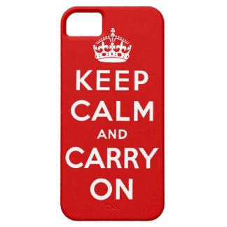 gardez le calme et continuez l original coque iPhone 5 Case-Mate
