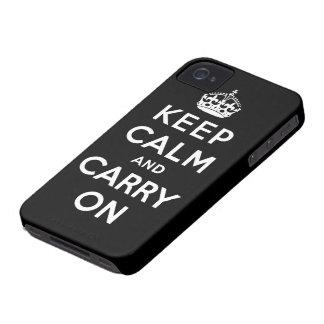 gardez le calme et continuez l'original coque Case-Mate iPhone 4