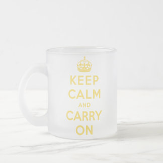 gardez le calme et continuez l'original mug en verre givré