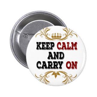 Gardez le calme et continuez pin's