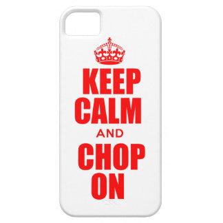 Gardez le calme et coupez sur le cas de l'iPhone 5 Coque iPhone 5 Case-Mate