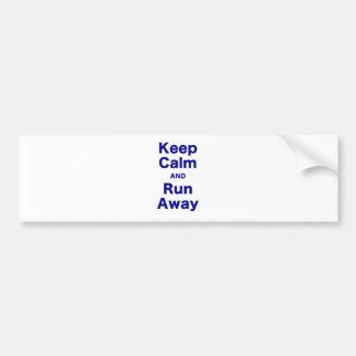 Gardez le calme et courez loin adhésif pour voiture