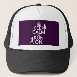 Gardez le calme et courez sur (les couleurs casquette