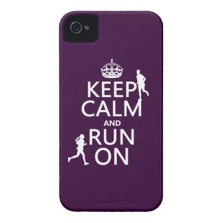 Gardez le calme et courez sur (les couleurs coque iPhone 4