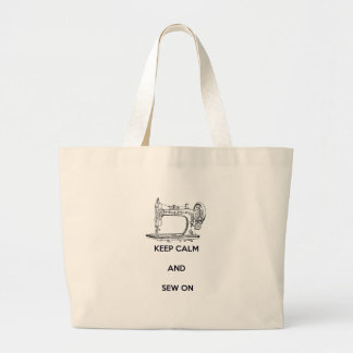 Gardez le calme et cousez dessus sac en toile jumbo