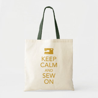 Gardez le calme et cousez sur le sac fourre-tout j
