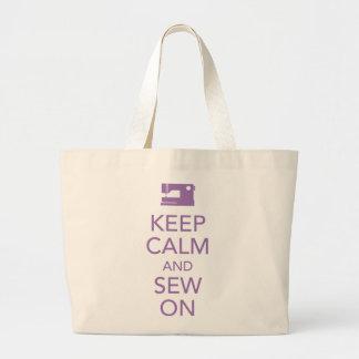 Gardez le calme et cousez sur le sac fourre-tout p