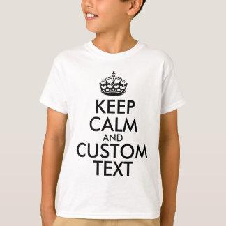Gardez le calme et créez vos propres font pour t-shirt