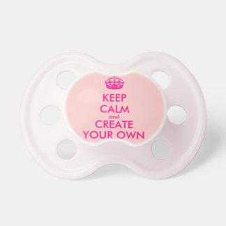 Gardez le calme et créez vos propres - rose tétine