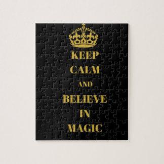 Gardez le calme et croyez à la magie puzzle