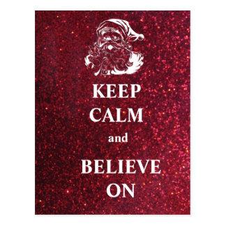 Gardez le calme et croyez sur la carte postale