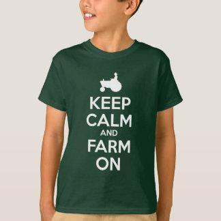 Gardez le calme et cultivez dessus t-shirt