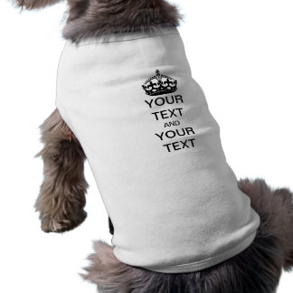 Gardez le calme et customisez t-shirt pour chien