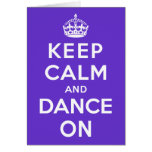 Gardez le calme et dansez dessus cartes de vœux