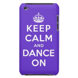 Gardez le calme et dansez dessus coque iPod touch