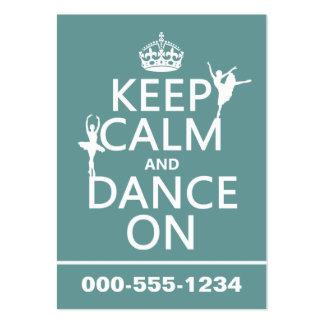 Gardez le calme et dansez sur (ballet) (toutes les carte de visite grand format