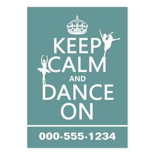 Gardez le calme et dansez sur (ballet) (toutes les carte de visite