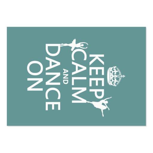 Gardez le calme et dansez sur (ballet) (toutes les modèle de carte de visite