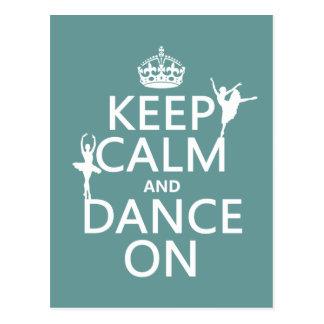 Gardez le calme et dansez sur (ballet) (toutes les carte postale