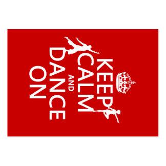 Gardez le calme et dansez sur (dans toutes les cou carte de visite