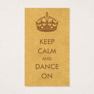 carte de visite keep calm