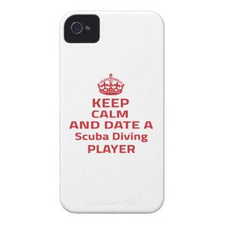 Gardez le calme et datez un joueur de plongée à coque iPhone 4