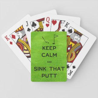 Gardez le calme et descendez ce putt jeu de cartes