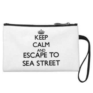 Gardez le calme et échappez-vous à la rue le pochette avec anse