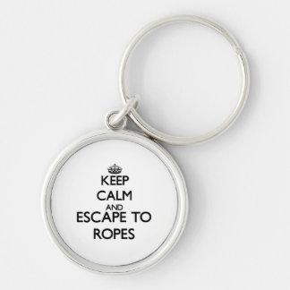 Gardez le calme et échappez-vous aux cordes le porte-clefs