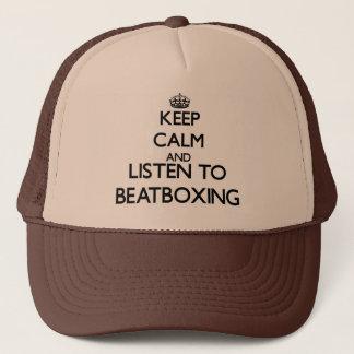 Gardez le calme et écoutez BEATBOXING Casquette