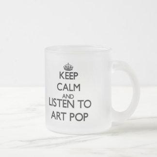 Gardez le calme et écoutez l ART POP Mug À Café